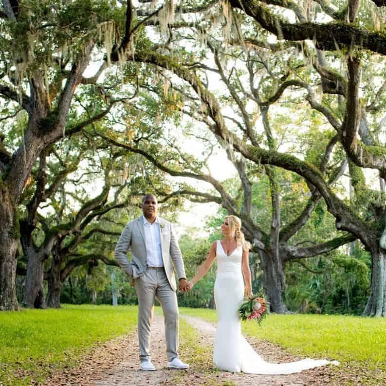 Jordan Cornette with his wife