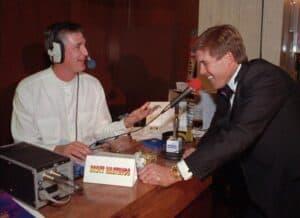 Scott working as a commentator