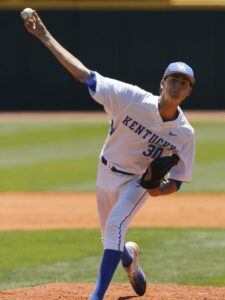 Pitching for Kentucky Wildcats