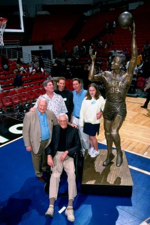 George Mikan With His Family