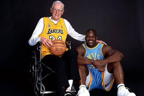George Mikan With Shaquille O'Neal
