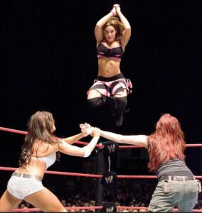 Mickie on the ring
