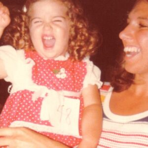 Little Sarah with her Mom