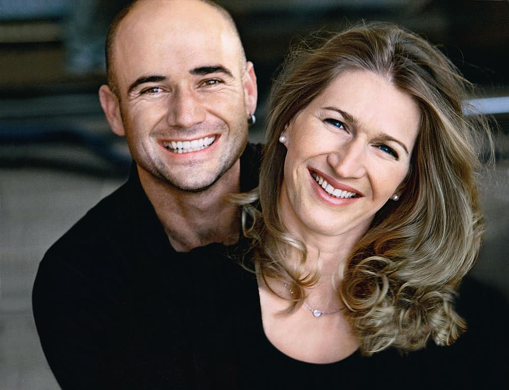 Agassi and Steffi Graf