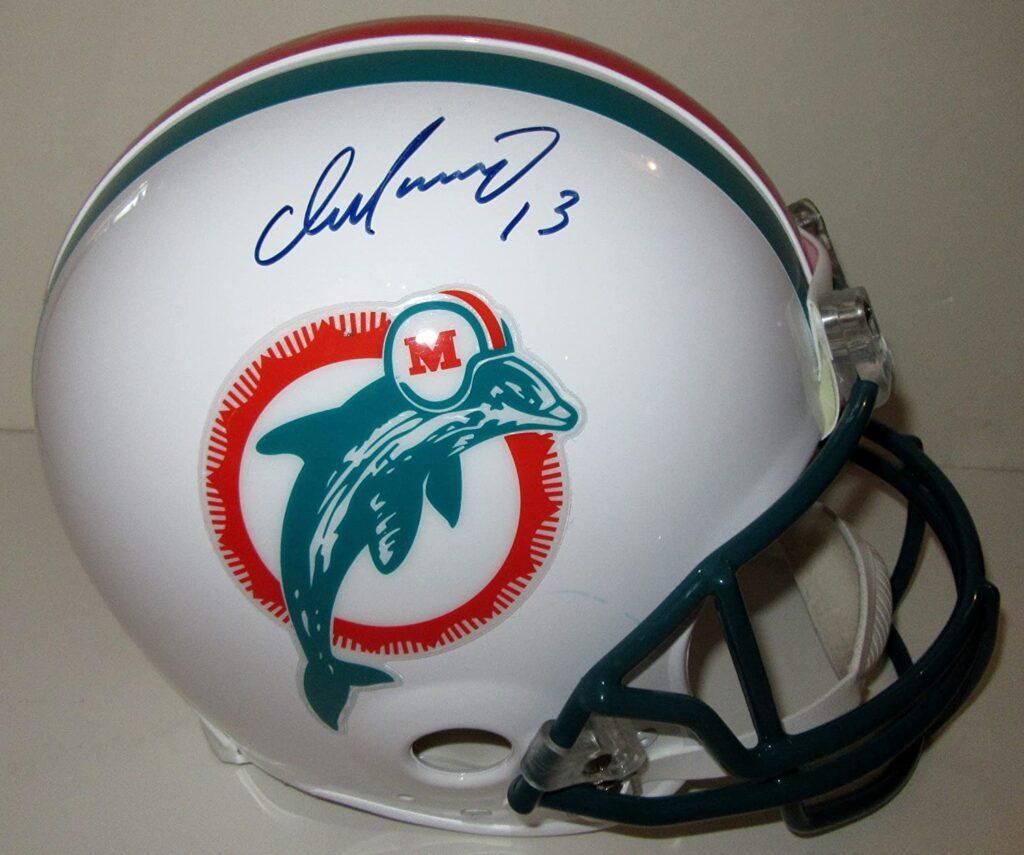 Dan-Marino's-autographed-helmet
