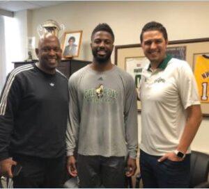 David Nwaba With His Coach