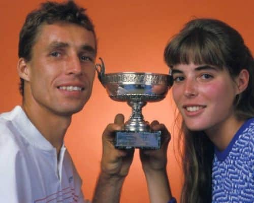 Lendl's wife Samantha Frenkel