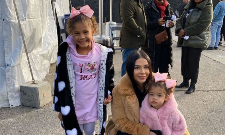 Paul George's fiancé and childrens