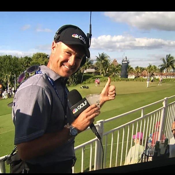 Trevor Immelman as a commentator