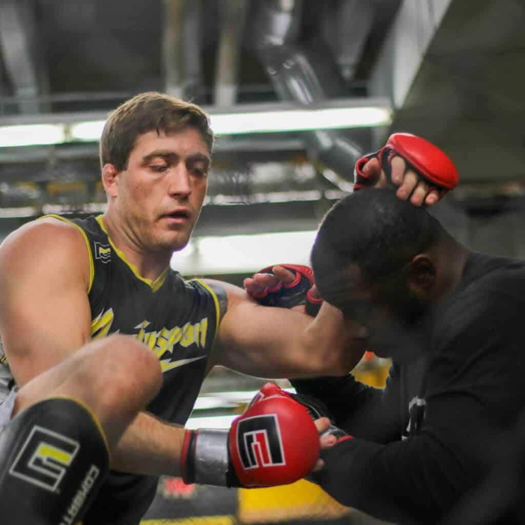 Gerald Meerschaert MMA training days.