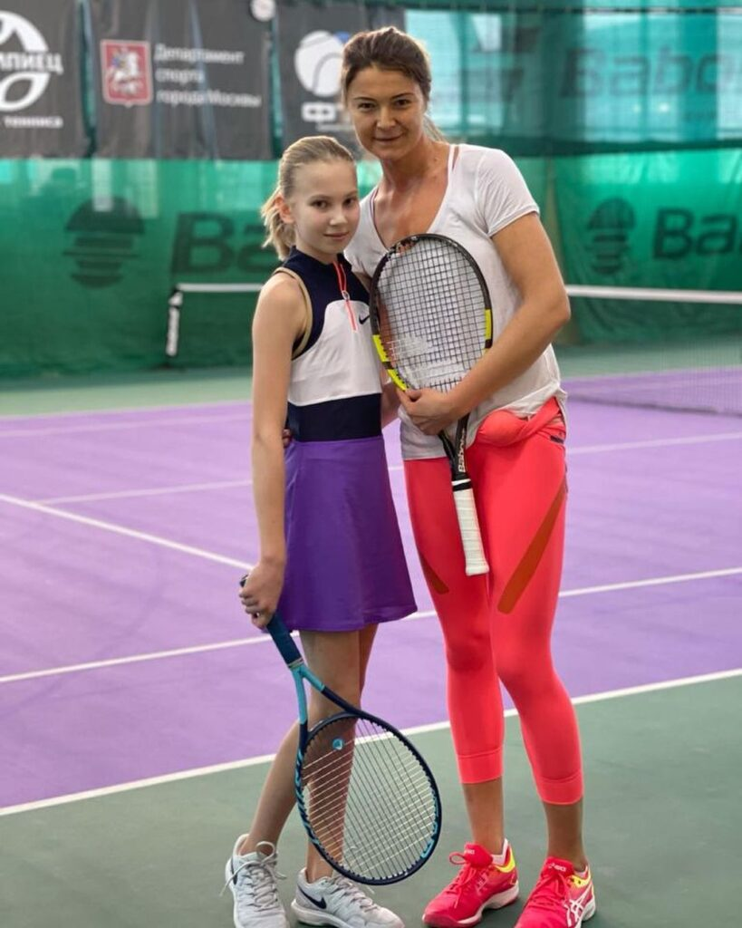 Dinara Safina with Alina Yuneva