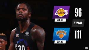 Julius Randle double-double against former team