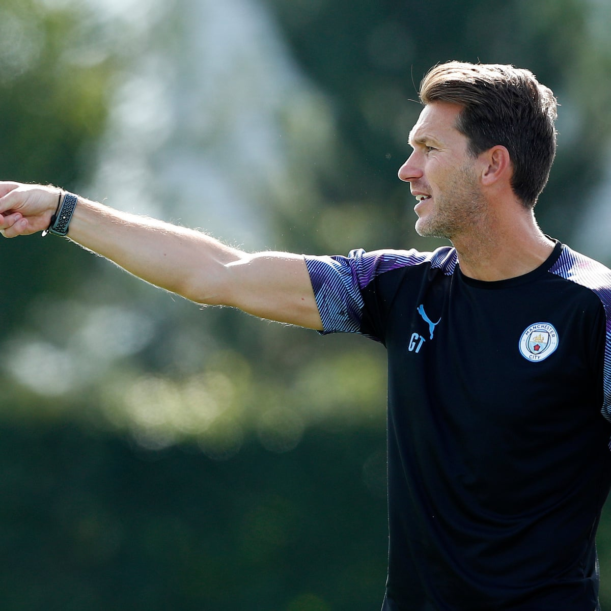 Manchester City manager Gareth Taylor (Source The Guardian)