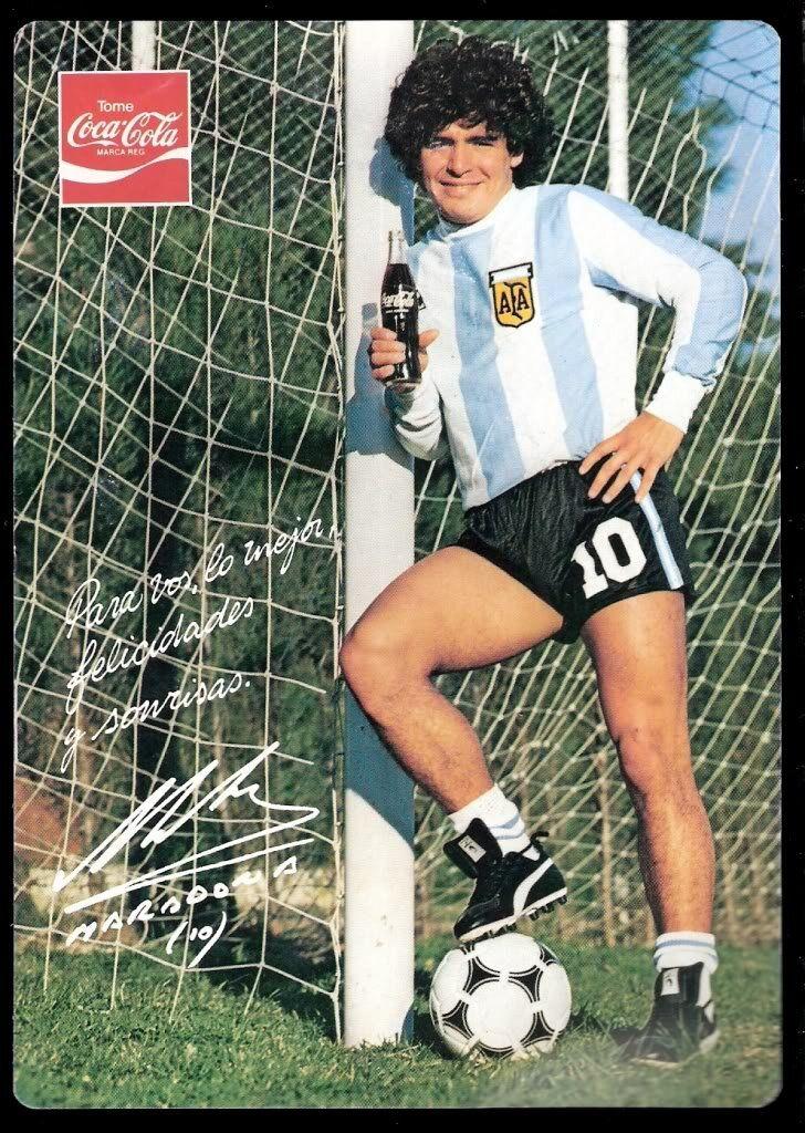Maradona and Coca-cola (Source Pinterest)