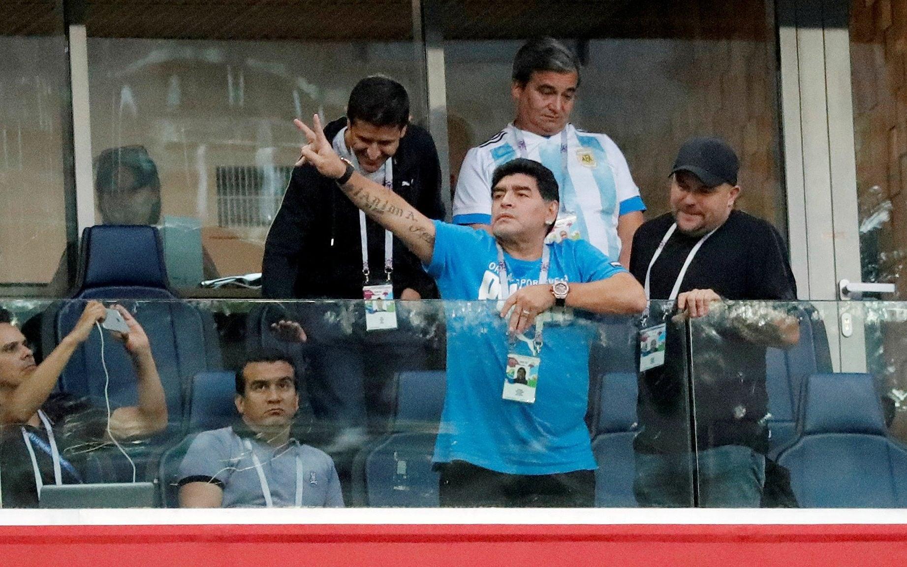 Maradona as an ambassador for Fifa