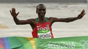 Kipchoge in the Rio Olympics Games