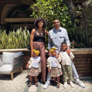 Nina with her Husband and Kids
