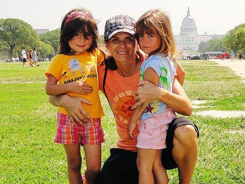 Mia Hamm and kids