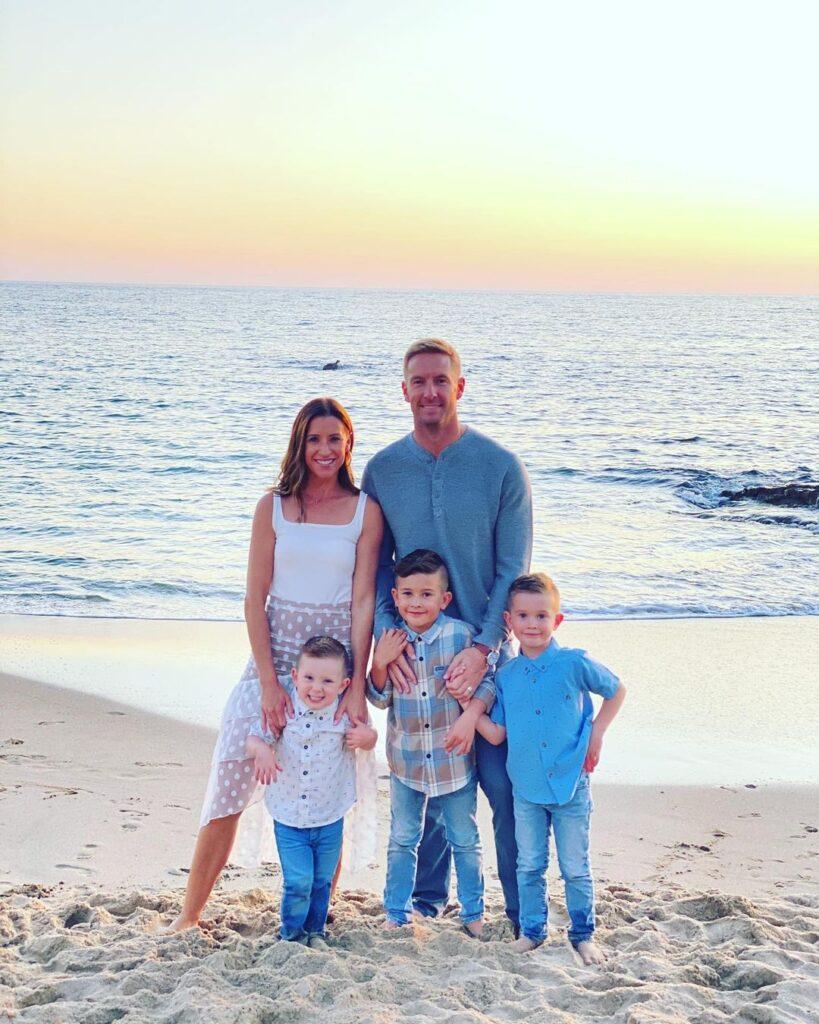Klatt with his Wife and Kids