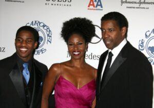 Denzel Washington, Paulette, and Malcolm