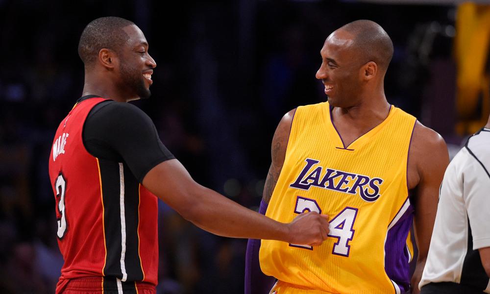 Dwyane Wade With Kobe Bryant
