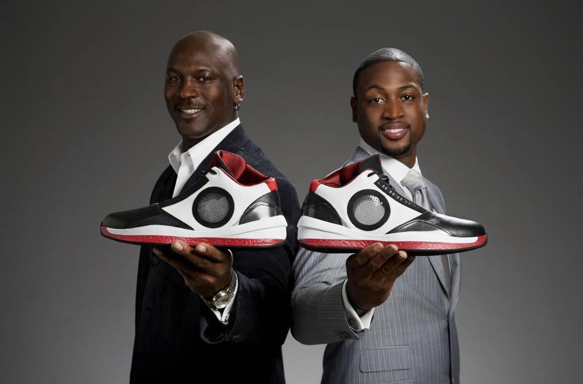 Dwyane Wade With Michael Jordan
