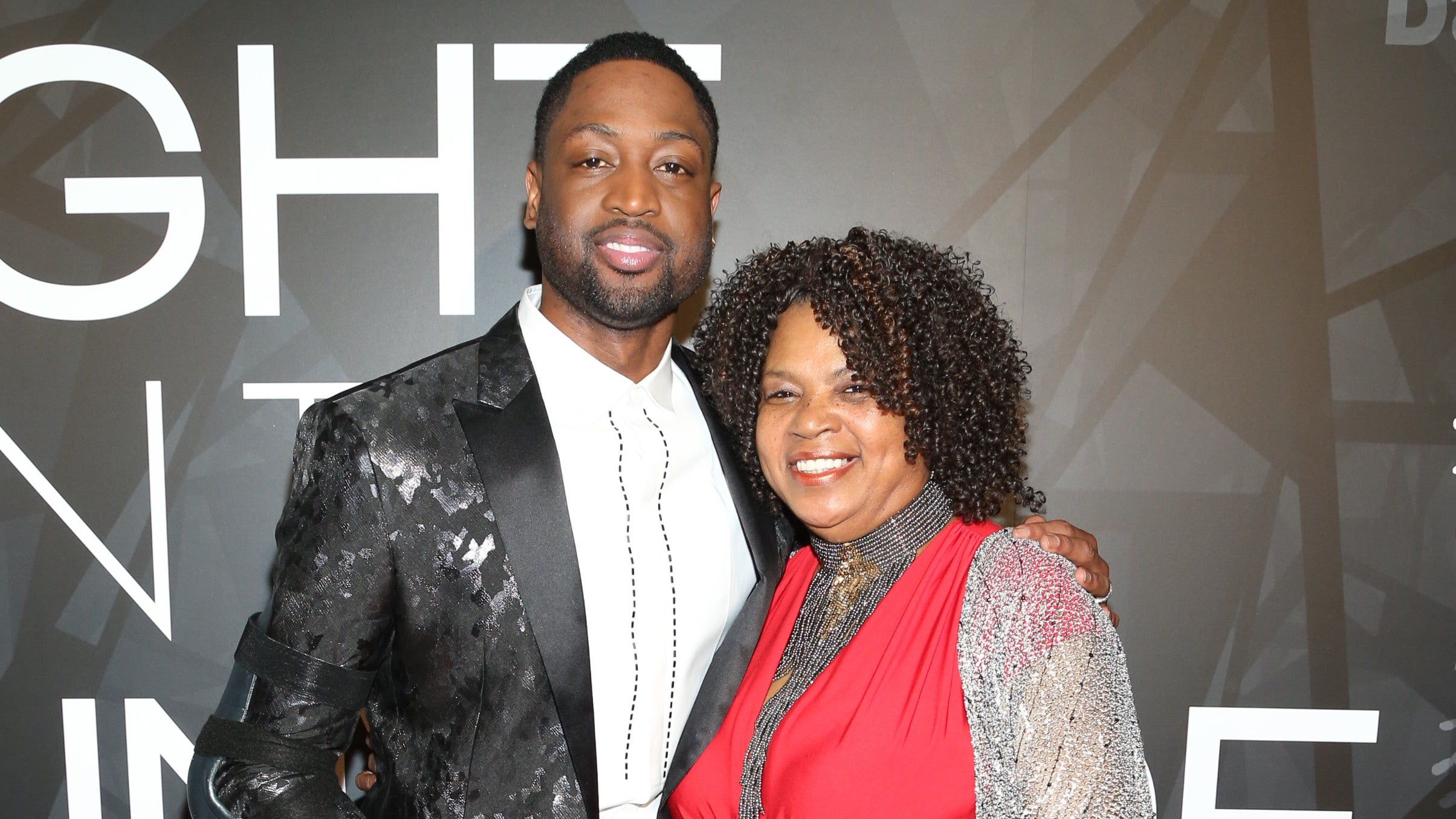 Dwyane With His Mother