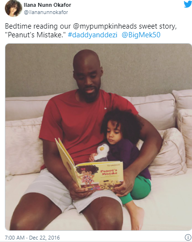 Emeka' with his daughter