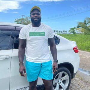 Jairzinho Posing with Car