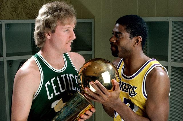 Larry Bird With Magic Johnson