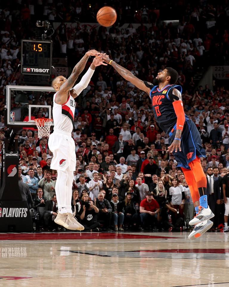 Lillard 37 footers game winning buzzer beater against Thunders in Playoffs first round