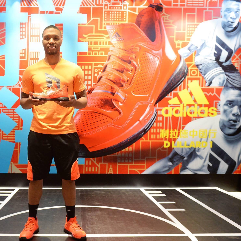 Lillard has been Adidas athlete since beginning of his NBA career
