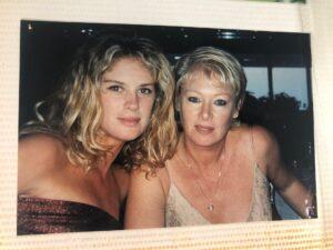 Rachel Hunter with her mother