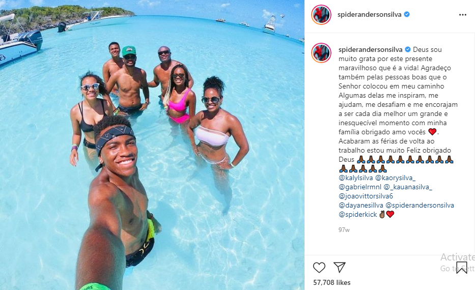 Anderson Silva lifestyle and vacation