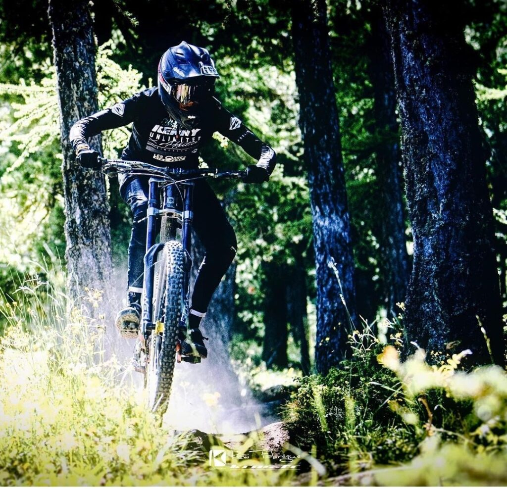 Chausson is the brand ambassador for the Commencal bikes