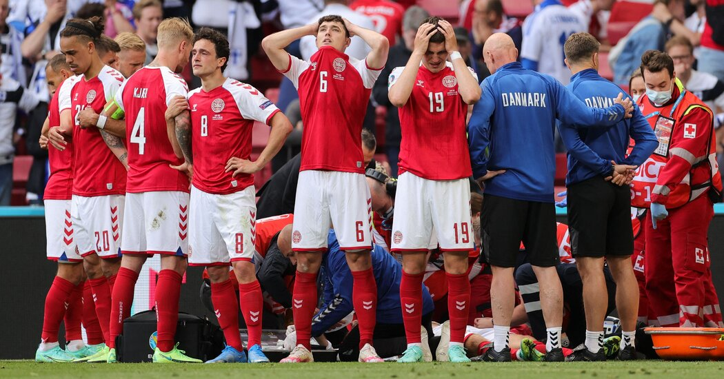 The beaten Denmark held their head high because of their journey(Source: Nation World News)