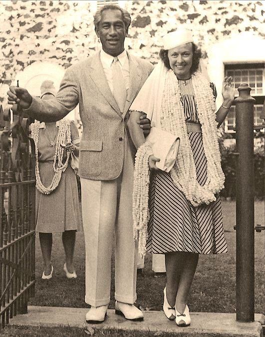 Duke with his wife
