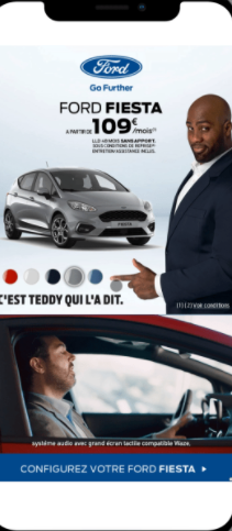 Ford Fiesta app that featured Teddy Riner