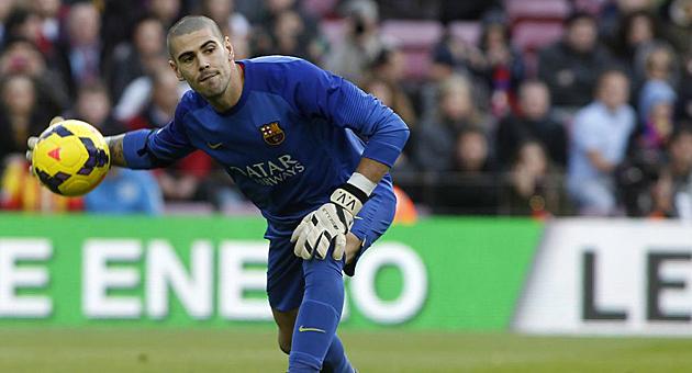 Goalkeeper Victor Valdes