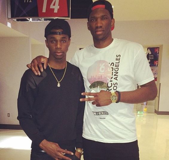 Joel with his beloved brother Arthur Embiid