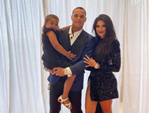 Jordan Poyer with his family