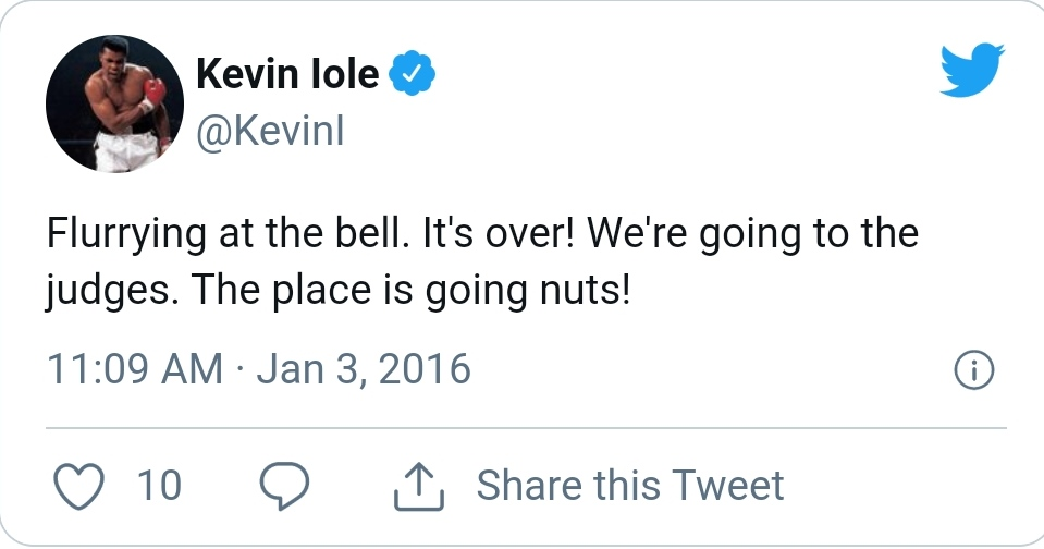 Kevin Lole about Lawler vs. Condit