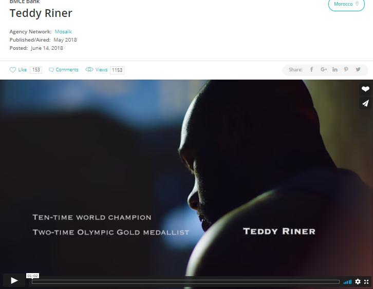 Teddy Riner acting up as an ambassador for African Entrepreneur Award