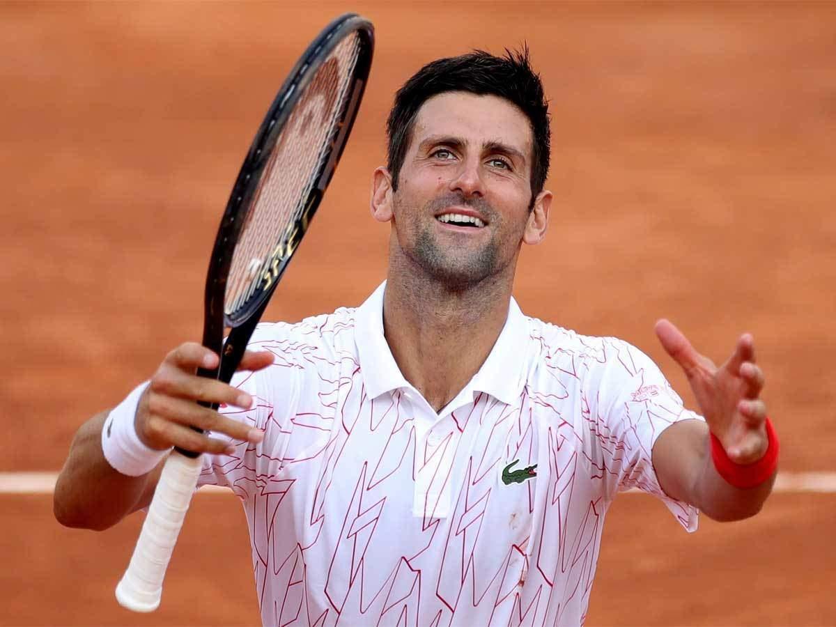 The Italian didn't look like it's breaking Djokovic's serve (Source: Times of India)