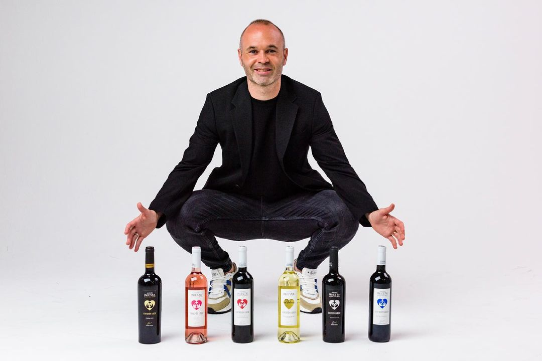 Andres Iniesta endorsing his wine company