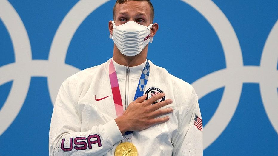Caeleb Dressel Gold Medal at Tokyo Olympics