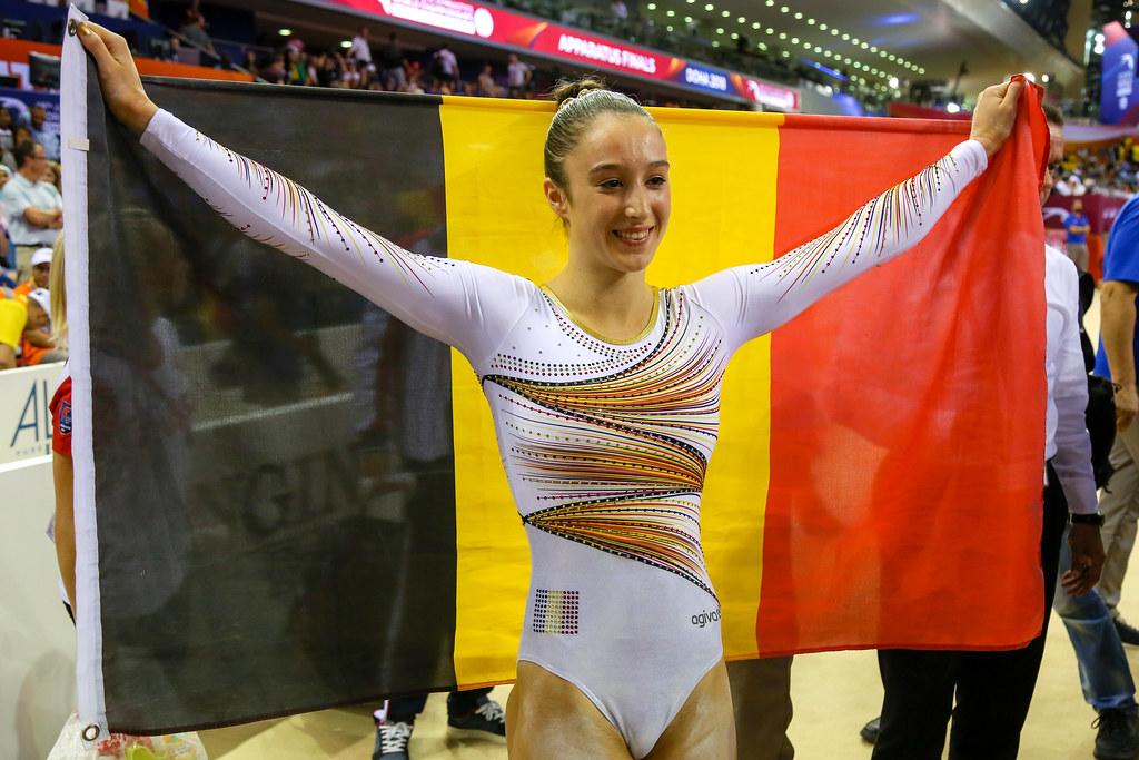 Nina Derwael, one of the best gymnasts in the world