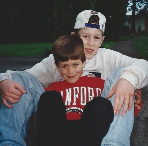 Luke's childhood picture with Jordan