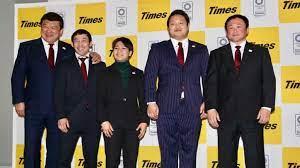Naohisa Takato with the Japanese Team.