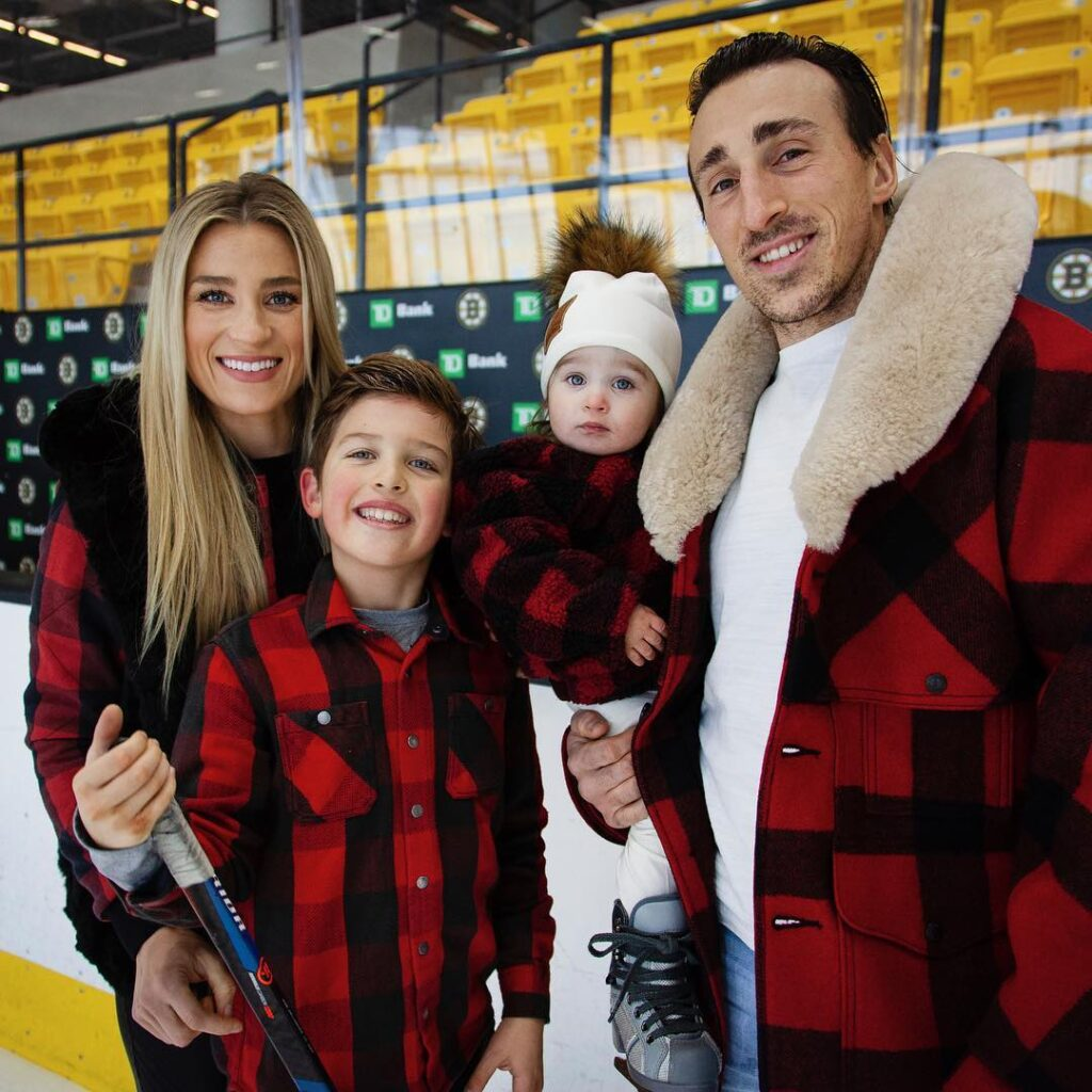 Brade Marchand along with his wife Katrina, daughter and son (Source: Instagram)
